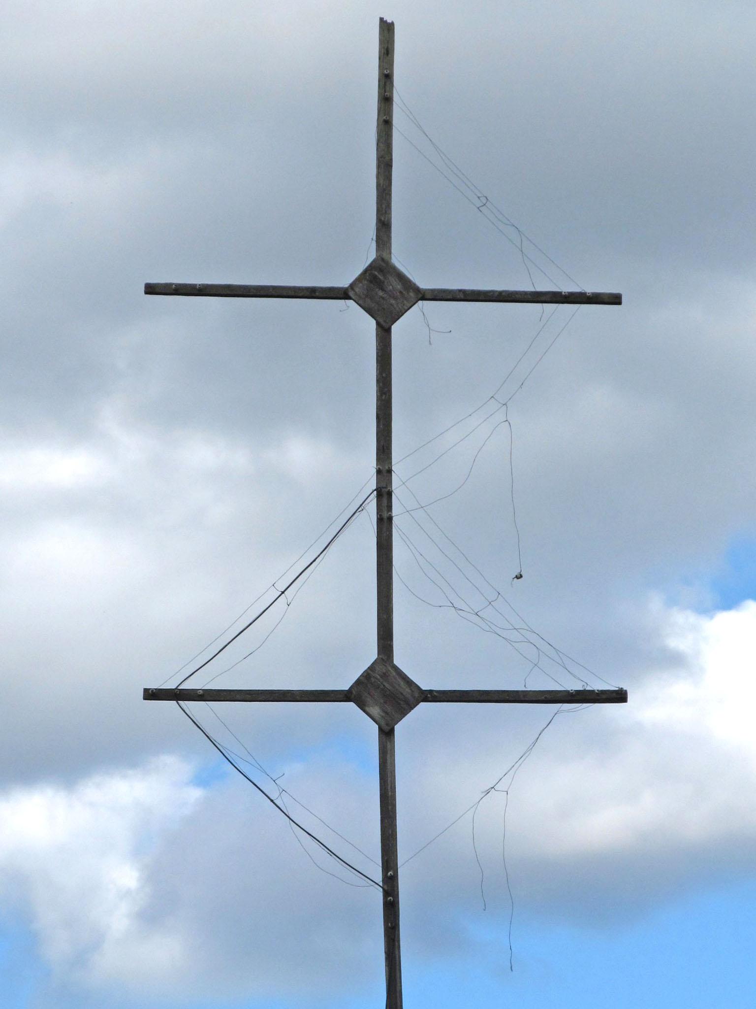 почти разрушенная антенна