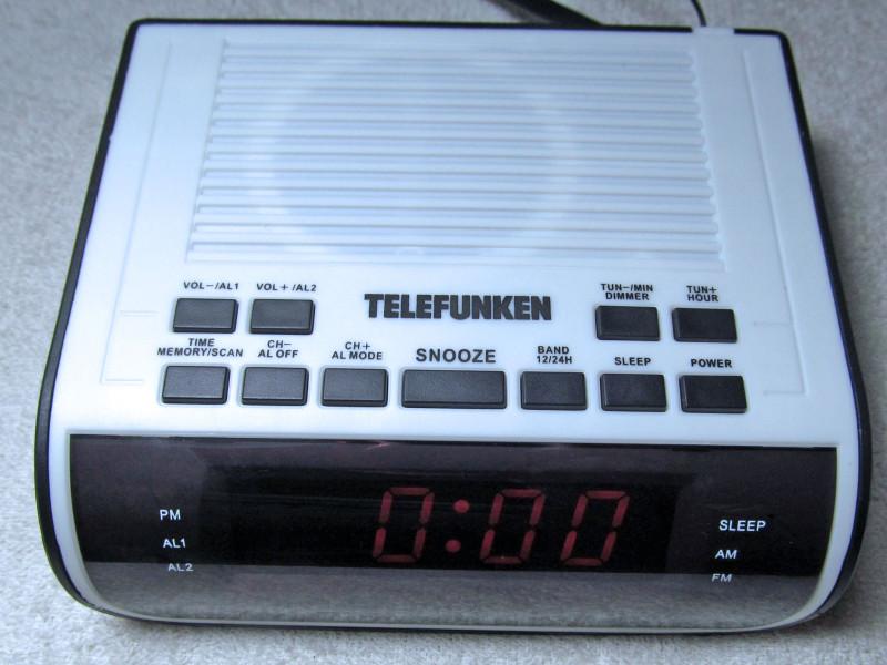 радиочасы включены