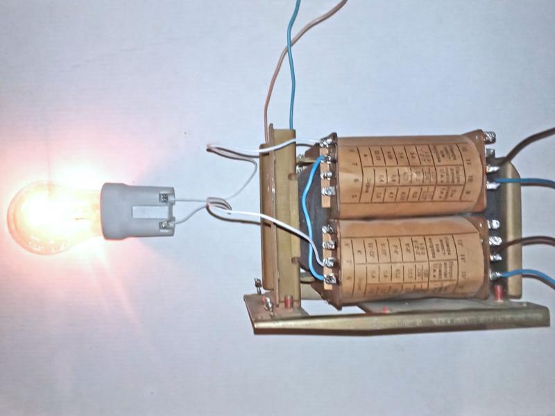 лампочка 220В 40Вт светит в пол накала