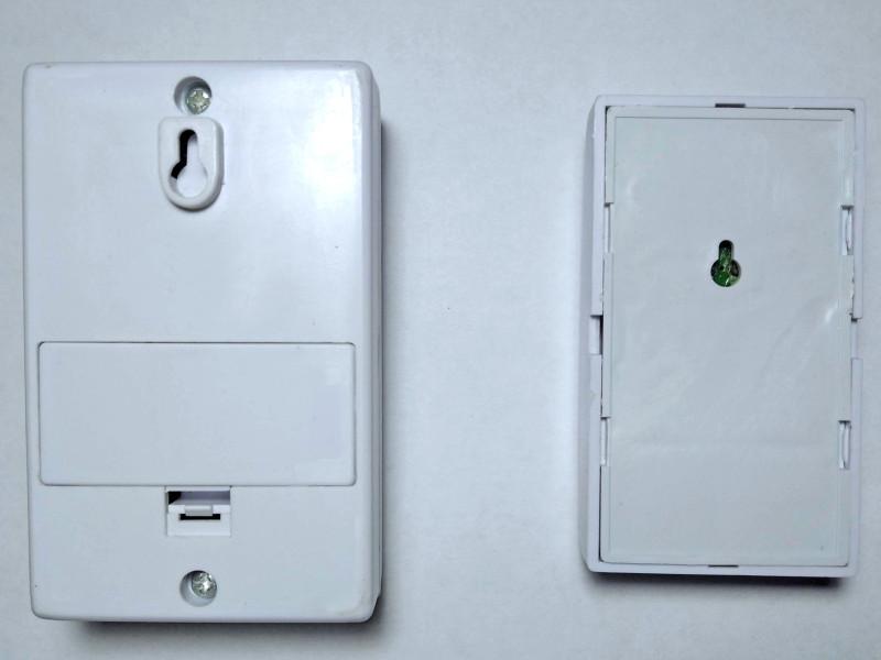 беспроводной дешевый звонок и его кнопка  сзади