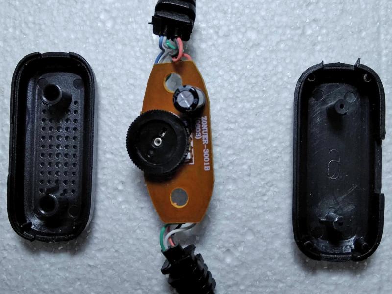 открыт корпус регулятора громкости
