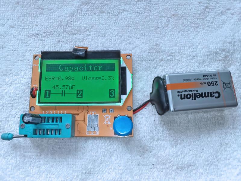 проверка импортного конденсатора 47мкФ 1988 года