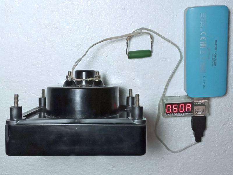 виден ток проходящий через резистор