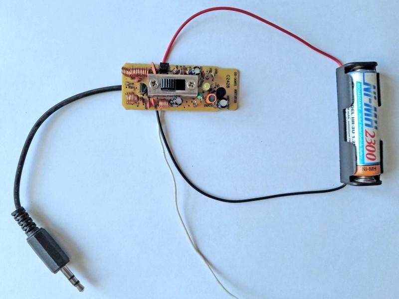 передатчик со штекером и батарейкой