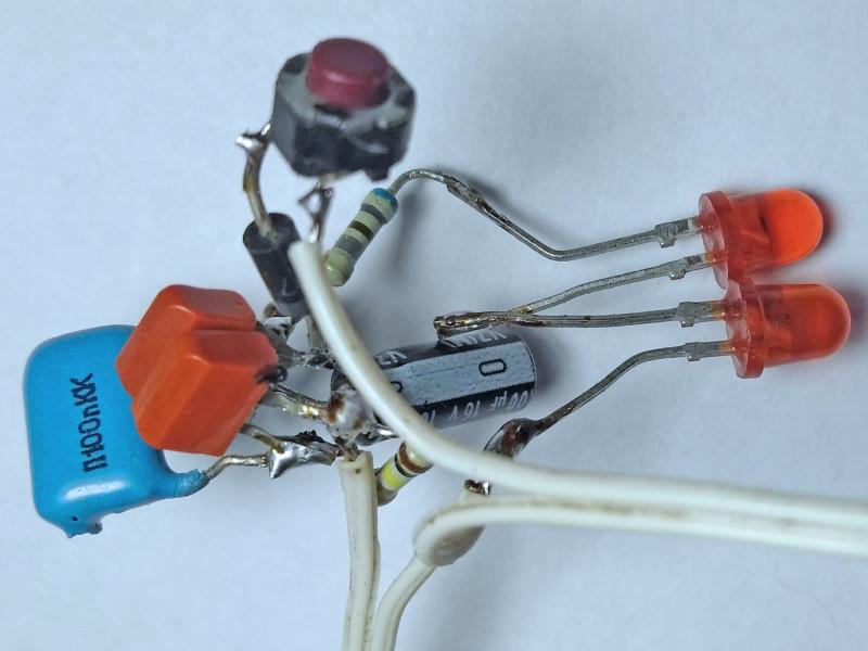 собранная конструкция со стороны транзисторов