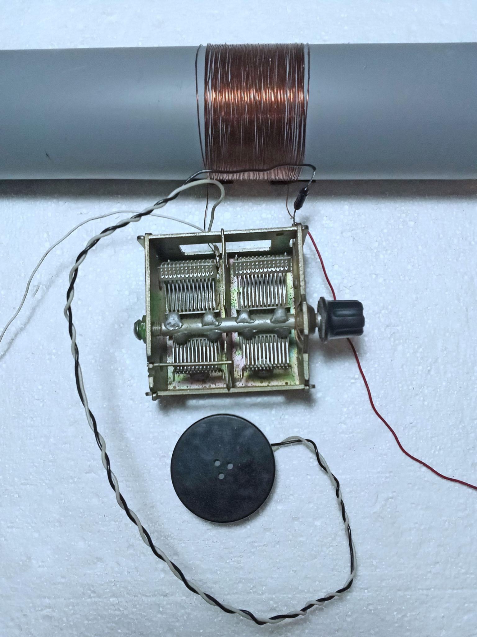 попытка собрать детекторный приемник