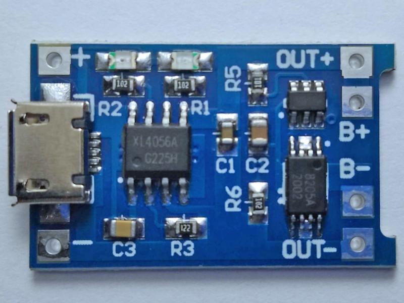 модуль со стороны деталей (микросхема маркирована как xl4056a)