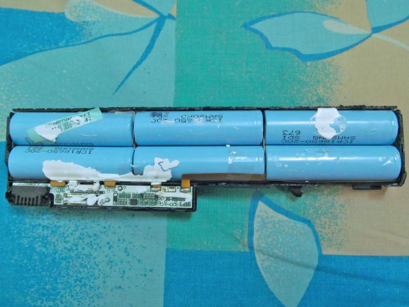 остатки батареи ноутбука