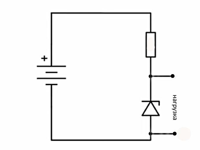 схема простейшего стабилизатора на стабилитроне