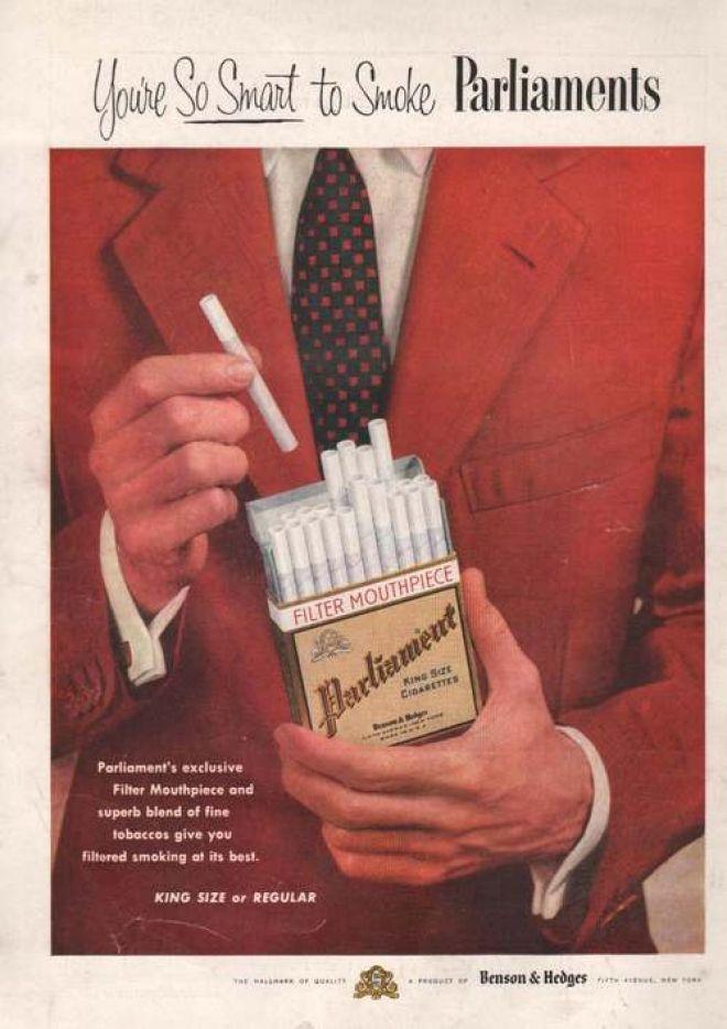 Thin white cigarettes Winston