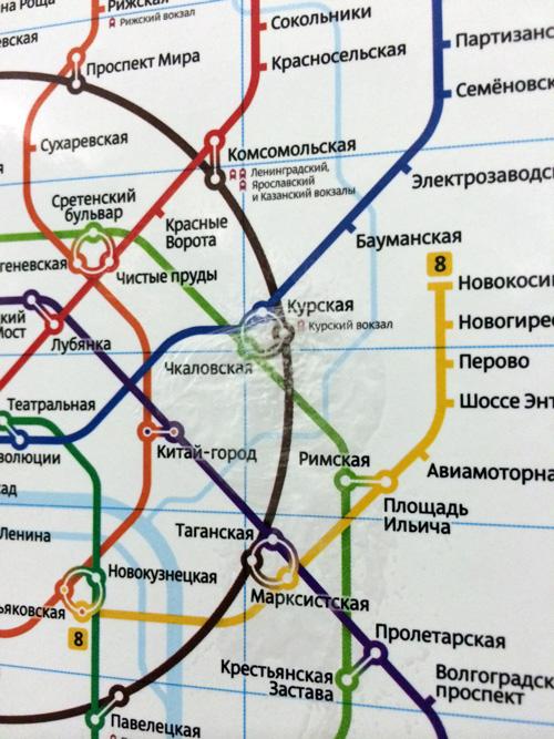 Схема метро: пузыри, стрелочки