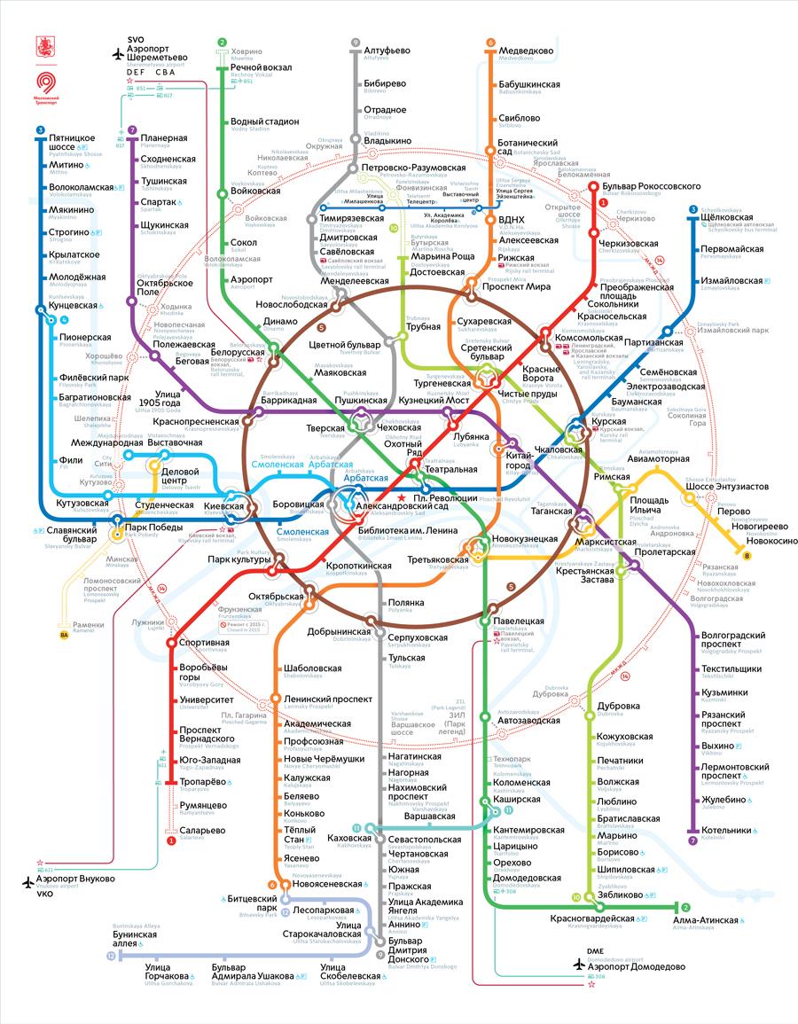 карта москва метро схема