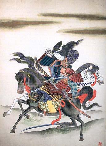 Томоэ гозэн отсекает голову Онда Моросиге в финальной битве при Удзи.