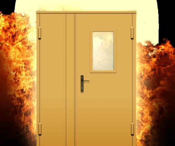 огнеупорная дверь металлическая