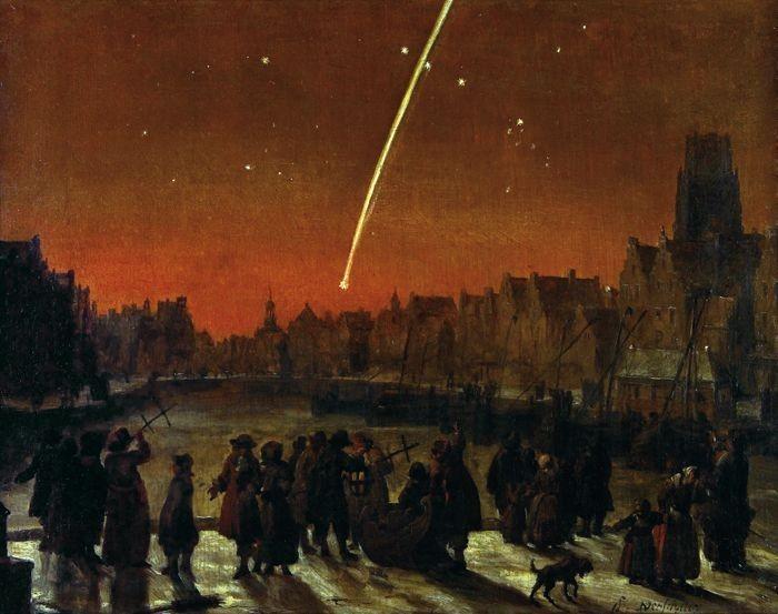 Та самая комета, вид из Роттердама.
