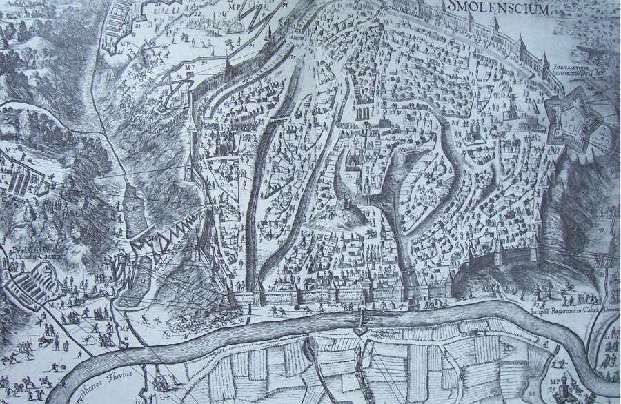 План осады Смоленска в 1632-34 годах.