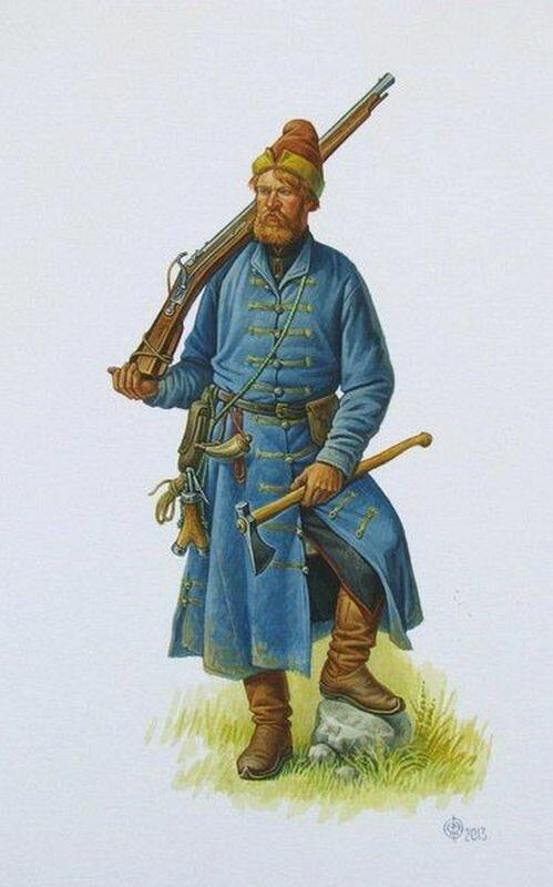 Иллюстрация Олега Федорова. Стрелец XVI века