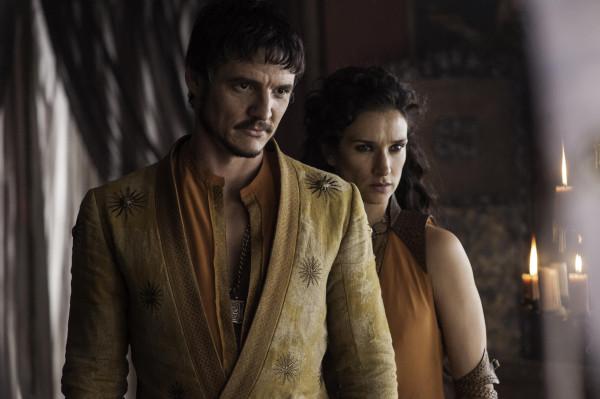 Pedro Pascal as Oberyn Martell, Indira Varma as Ellaria Sand_photo Helen Sloan_HBO