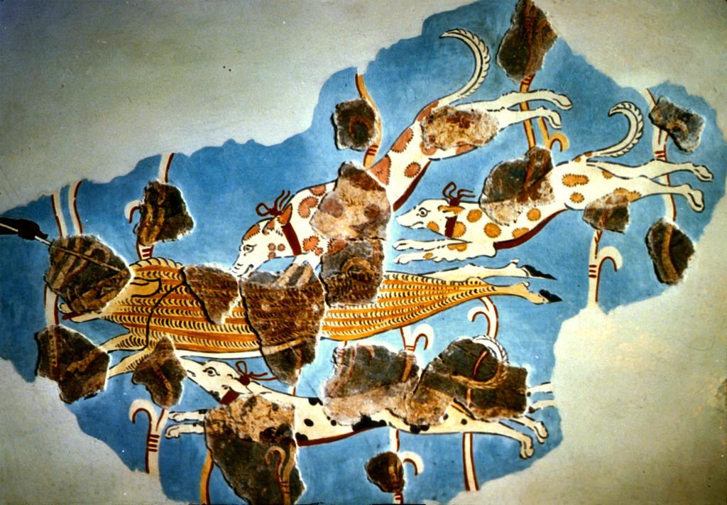 Фреска из Тиринфа, Микенская культура