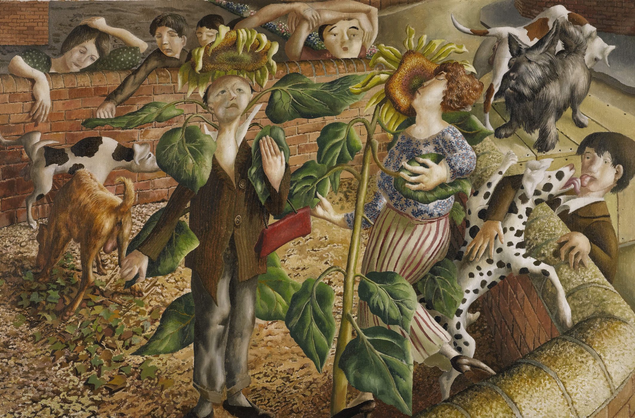 Stanley Spencer Sunflower and Dog Worship 1937