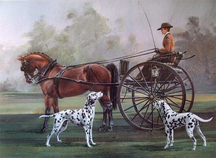Vic_Granger_-_Далматин и лошадь
