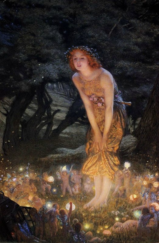 Midsummer Eve by Arthur Hughes