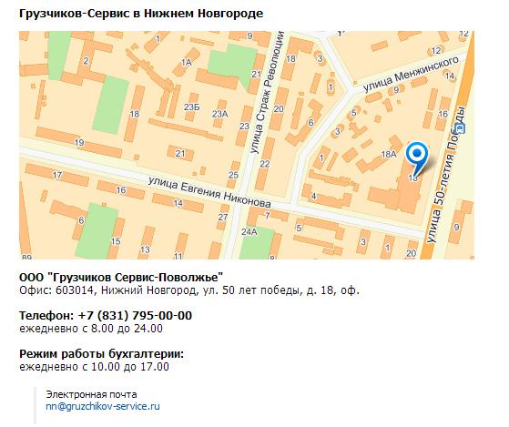 адрес в нижнем новгороде грузчиков сервис