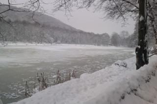 Abbeydale Industrial Hamlet frozen lake