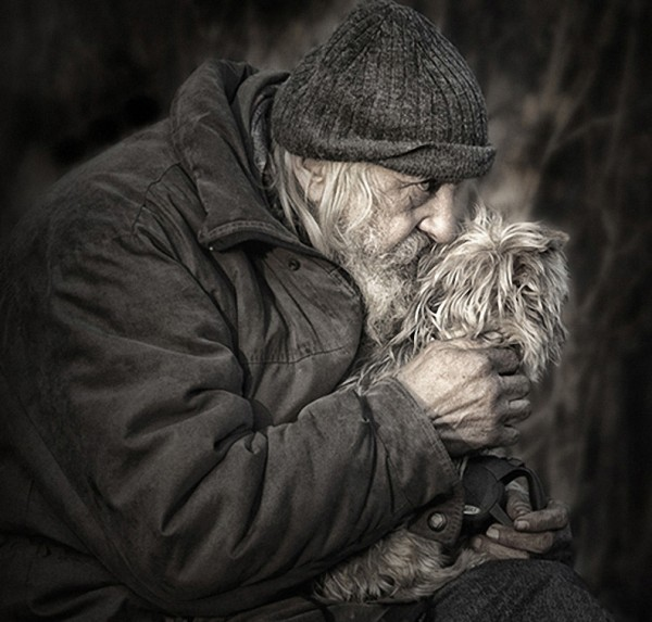 старик и пёс