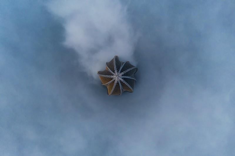 лахта-центр в тумане