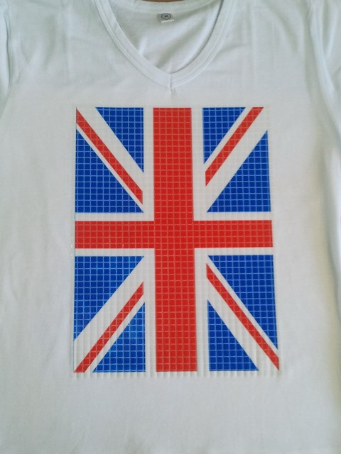 сублимация на хлопковой футболке