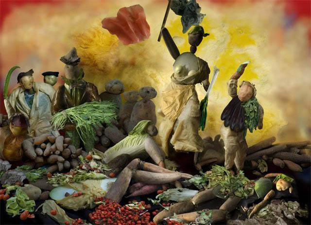 Свобода, ведущая овощи. Экспозиция художницы Цзюй Доци из пекинского «Овощного музея».