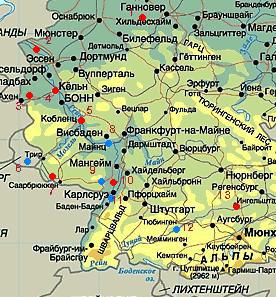 кр-пости на карте