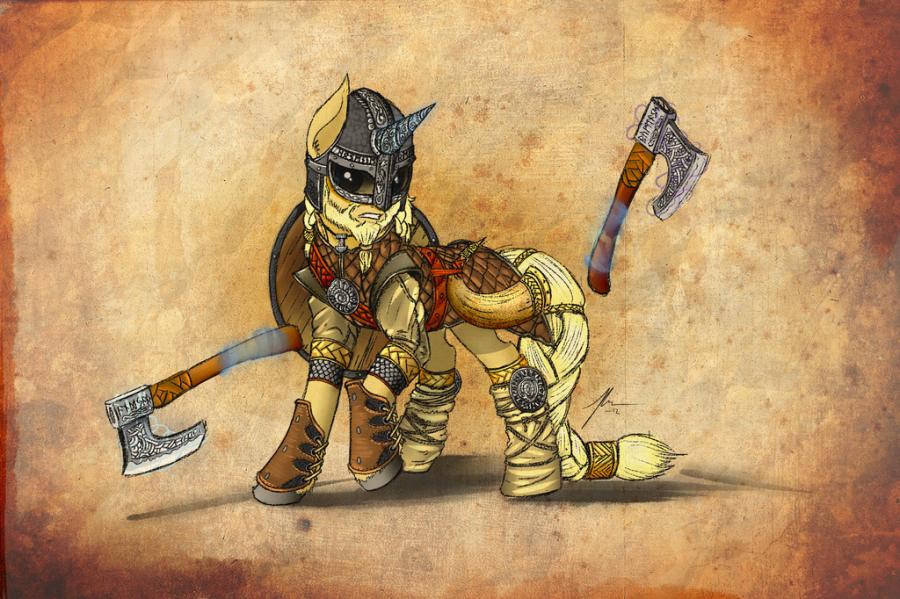 viking_pony_by_wreky-d5g3x3y
