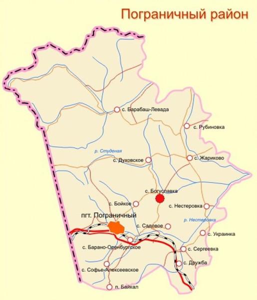 Карта Гродековского округа