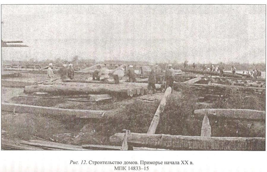 строительство срубов казаками