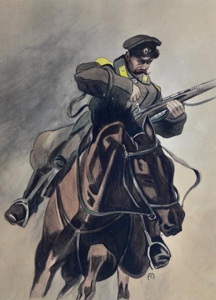 Cossack Reloading by Alexsei Epoff