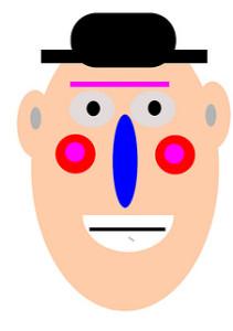 bewildered clown