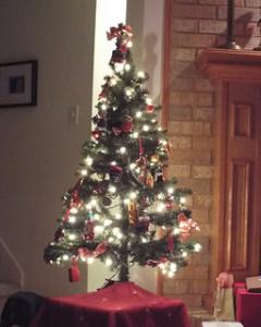 christmas eve 2013 kitchen tree