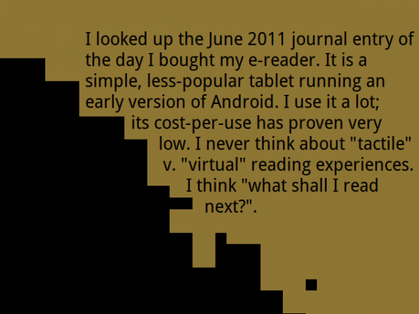 my e-reader revised