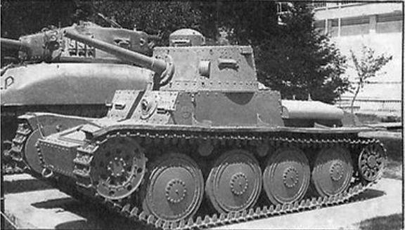 Легкий танк иранской армии TNH (Pz.Kpfw.38(t)