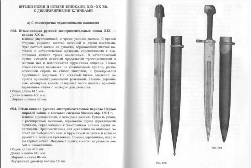 """Штык к трехлинейке в виде кавказского кинжала для царской армии/А. Кулинский """"Штыки мира"""""""