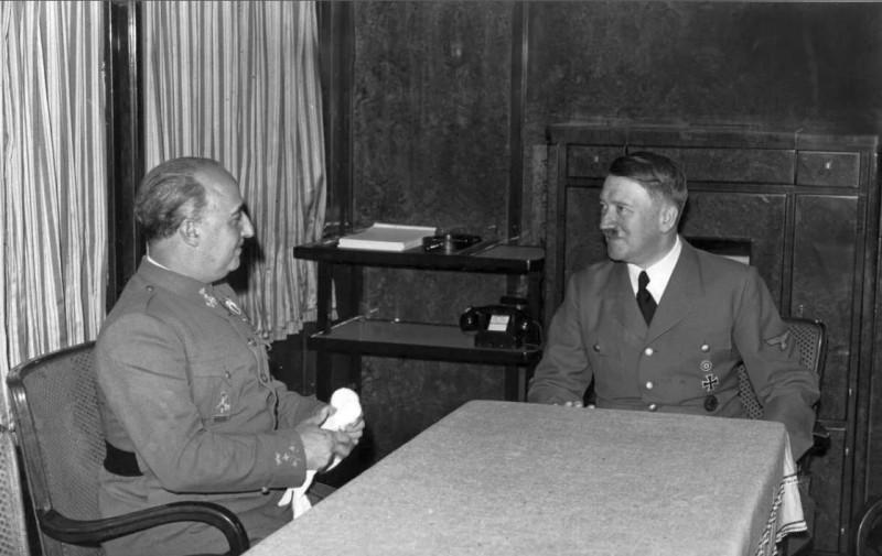 Ф. Франко и А. Гитлер