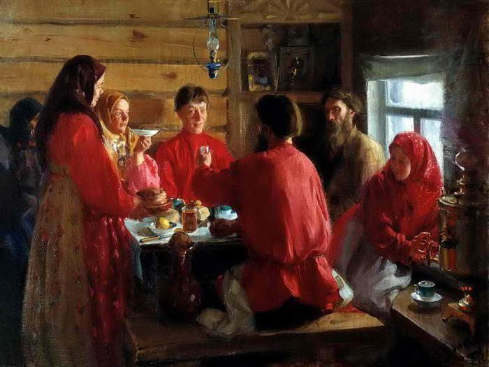 И.Куликов.Чаепитие в крестьянской избе(1902).JPG