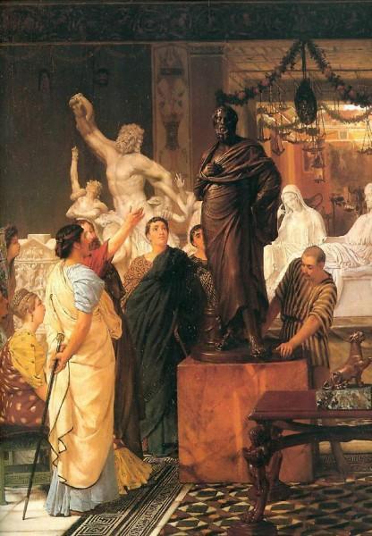 Лоуренс Альма-Тадема. Галерея скульптора. 1867.jpg