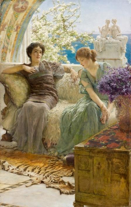 Лоуренс Альма-Тадема. Признание. 1895 г..jpg
