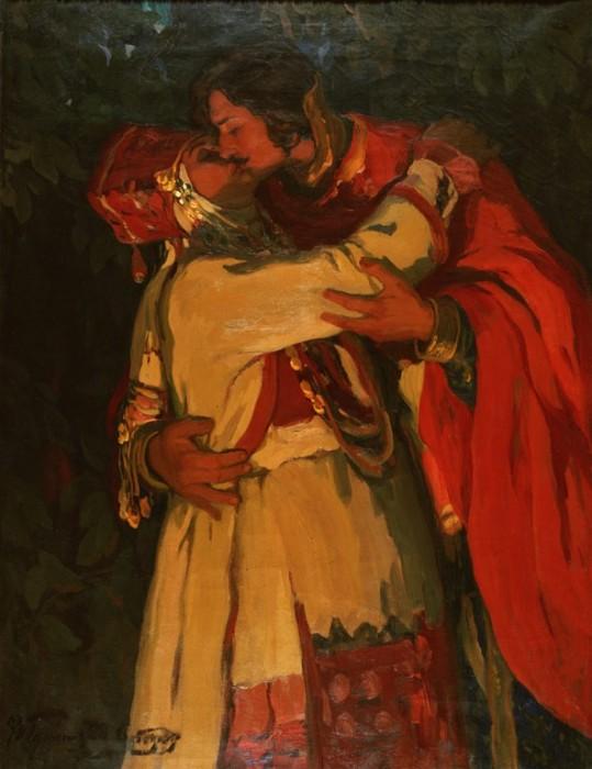И.С.Горюшкин-Сорокопудов. Поцелуй. 1910-е годы.jpg