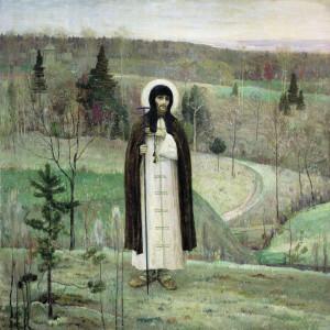 Х Нестеров. Святой Сергий Радонежски.1891-1899