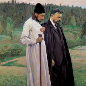 Х Нестеров. Философы (С.Н.Булгаков и П. А.Флоренский). 1917