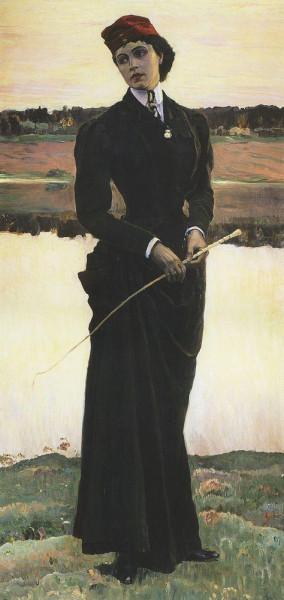 Х Нестеров. Портрет Ольги Михайловны Нестеровой (Амазонка). 1906
